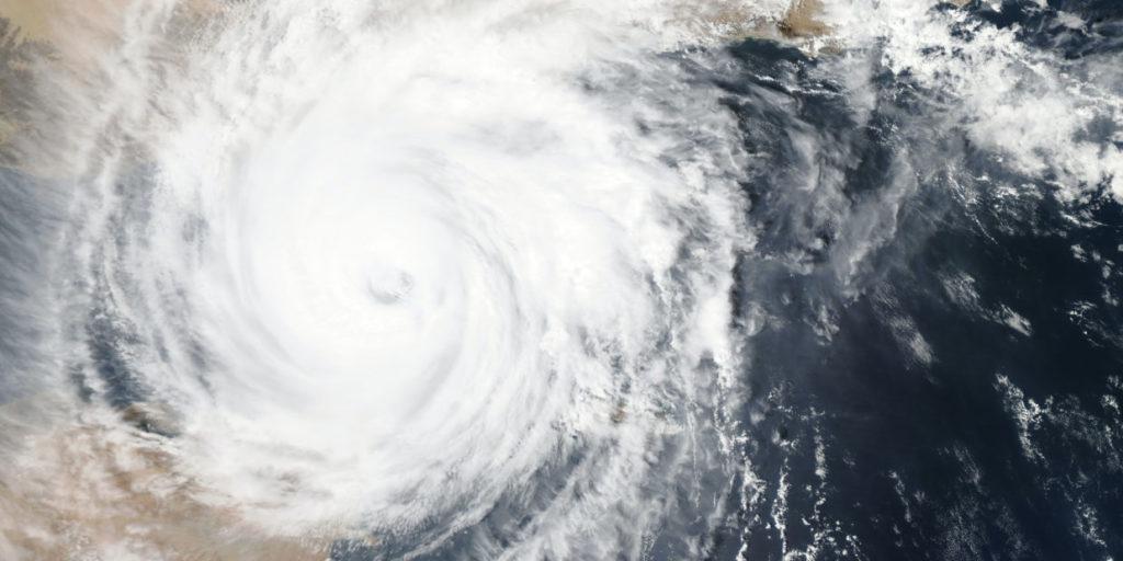 Ein Hurrikan als Symbolbild für einen Shitstorm