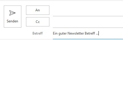 Screenshot einer Betreffzeile, die Newsletter Conversion erhöht.