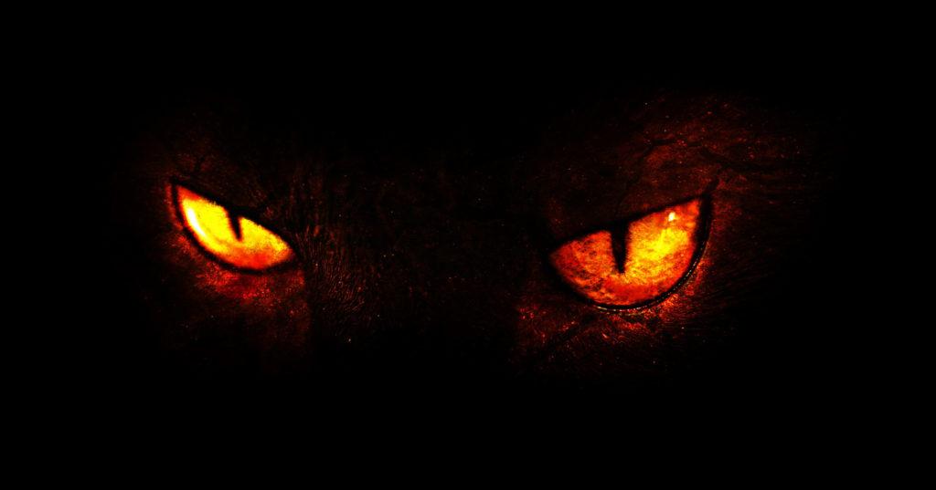 Die leuchtenden Augen eines Monsters als Beispiel für die erste Urgeschichte im digital Storytelling.
