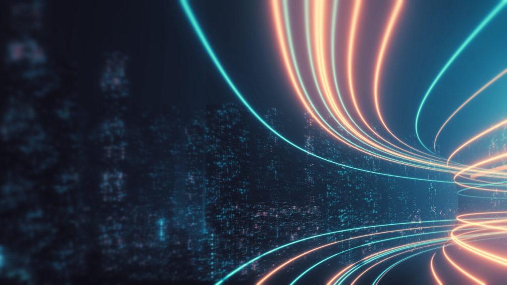 Eine abstrakte Animation eines Highways als Symbolbild für die Optimierung der Site Speed.